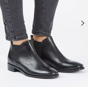🆕 Topshop Kiki Black Leather 9.5 Chelsea Boots